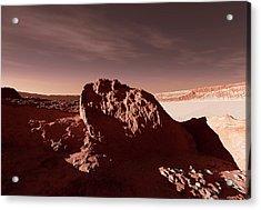 Martian Impact Crater Acrylic Print