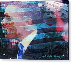 Martin And Obama Acrylic Print by Lynda Payton