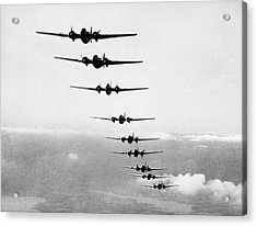 Martin B-10s In Formation Acrylic Print by Underwood Archives