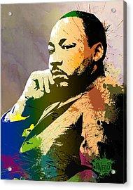Martin Luther King Jr.  Acrylic Print by Anthony Mwangi
