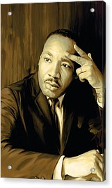 Martin Luther King Jr Artwork Acrylic Print by Sheraz A
