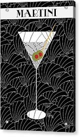 1920s Martini Cocktail Art Deco Swing   Acrylic Print