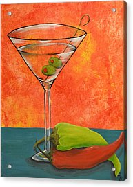 Martini And Pepper Acrylic Print