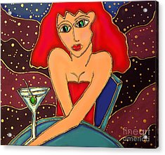 Martini Dreams Acrylic Print by Cynthia Snyder