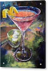 Martini Acrylic Print by Michael Creese