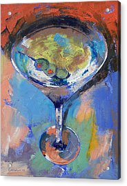 Martini Oil Painting Acrylic Print