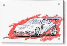 Martini Porsche 911 Gt3 Acrylic Print
