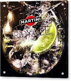 Martini Royale At Cafe Shokolad #cafe Acrylic Print