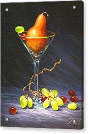 Martini Acrylic Print by Sean Taber
