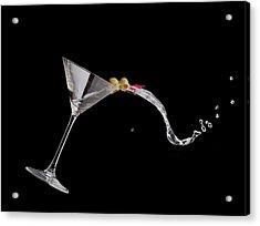 Martini Spill Acrylic Print