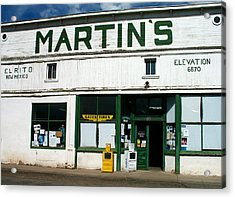 Martin's Acrylic Print by Gia Marie Houck
