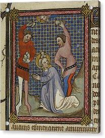 Martyrdom Of Saint Stephen Acrylic Print by British Library