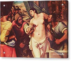 Martyrdom Of St Agatha Acrylic Print by Pg Reproductions