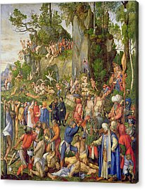Martyrdom Of The Ten Thousand, 1508 Acrylic Print