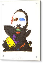 Acrylic Print featuring the painting Marvin Gaye by Stormm Bradshaw