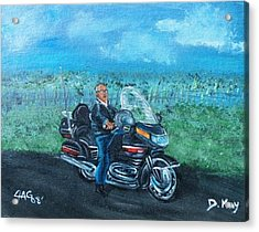 Acrylic Print featuring the painting Marvins Ride by The GYPSY And DEBBIE