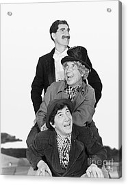 Marx Brothers - Groucho Harpo And Chico Marx Acrylic Print by MMG Archive Prints