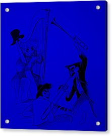 Marx Brothers Blue Acrylic Print by Rob Hans
