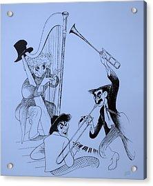 Marx Brothers Cyan Acrylic Print by Rob Hans