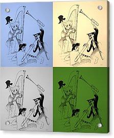 Marx Brothers Quad Colors I I Acrylic Print by Rob Hans