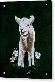 Mary Acrylic Print by Adele Moscaritolo