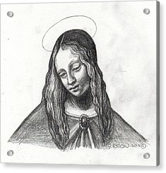 Mary After Davinci Acrylic Print by Genevieve Esson