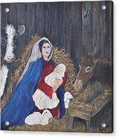 Mary And Baby Jesus Acrylic Print by Linda Clark