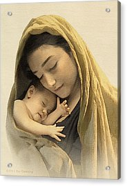 Mary And Baby Jesus Acrylic Print