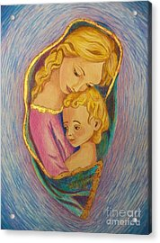 Mary And The Infant Jesus Acrylic Print