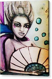 Mary Antoinette The Mermaid Acrylic Print