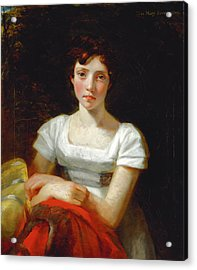 Mary Freer Inscribed In Yellow Paint, Upper Right Miss Mary Acrylic Print by Litz Collection
