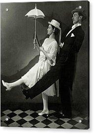 Mary Hay And Clifton Webb Dancing Acrylic Print by Edward Steichen