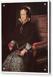 Mary I Queen Of England Acrylic Print by Antonis Mor