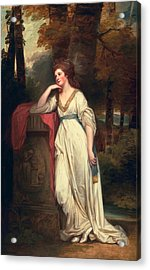 Mary, Lady Beauchamp-proctor, C.1782-88 Acrylic Print by George Romney