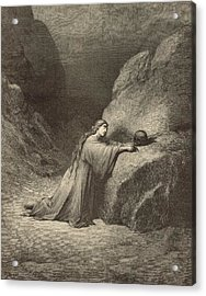 Mary Magdalene Acrylic Print by Antique Engravings