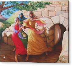 Mary Magdalene Discovering The Empty Tomb Acrylic Print