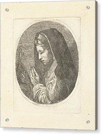 Mary Magdalene In Prayer, Louis Bernard Coclers Acrylic Print