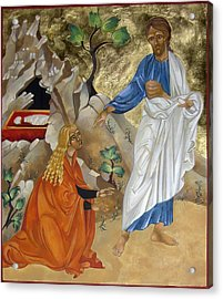 Mary Magdalene Acrylic Print by Mary jane Miller