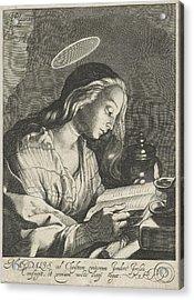 Mary Magdalene Reading, Cornelis Bloemaert II Acrylic Print