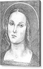 Mary Magdalene Acrylic Print by Salman Ameer