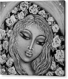 Mary Mary In Black And White Acrylic Print by Maya Telford