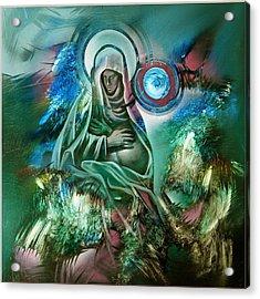 Mary Mother Of Jesus Acrylic Print by Glenn Bautista