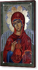 Mary Of The Burning Bush Acrylic Print by Mary jane Miller