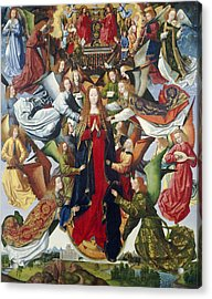 Mary, Queen Of Heaven, C. 1485- 1500 Oil On Panel Acrylic Print