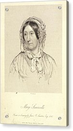 Mary Sommerville Acrylic Print by British Library