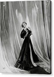 Mary Taylor Wearing A Vionnet Dress Acrylic Print by Cecil Beaton