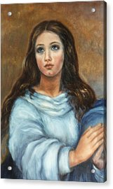 Mary Acrylic Print by Terry Sita