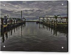 Mary Walker Marina - Stormy Skies Acrylic Print by Brian Wright