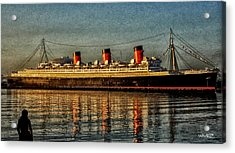 Mary Watches The Queenmary Acrylic Print