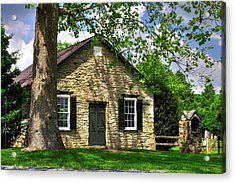 Maryland Country Churches - Fairview Chapel-1a Spring - Established 1847 Near New Market Maryland Acrylic Print
